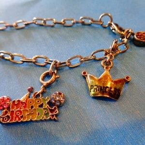 Happy Birthday Bracelet Charm Dangle Bracelet